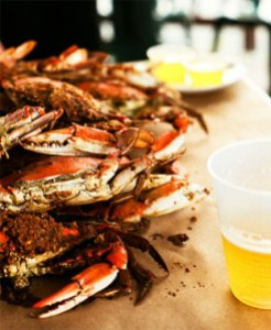Crabs and beer are awesome together (photo from http://www.quarterdeckarlington.com/)